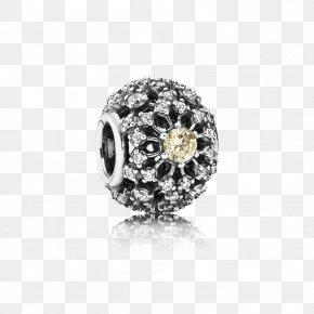 Pandora - Earring Pandora Cubic Zirconia Charm Bracelet Gold PNG