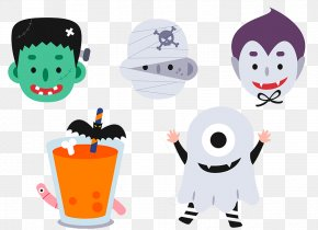 Halloween Cartoon Ghosts Dress Up PNG