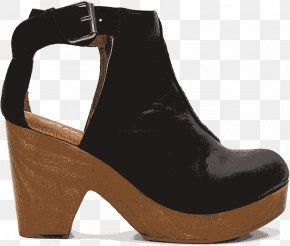 Free,People Hollow Heels - Suede Heel Boot Shoe PNG