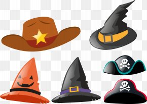 Vector Hand Painted Hat - Hat Stock Photography PNG
