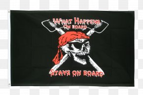 Flag - Jolly Roger Flag Fahne Piracy Skull And Crossbones PNG