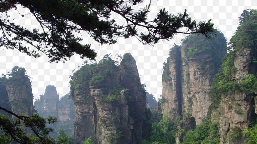Zhangjiajie National Forest Park Jiuzhaigou U067eu0627u0631u06a9 U062cu0646u06afu0644u06cc Yangtze Wallpaper, PNG, 1920x1080px, Zhangjiajie National Forest Park, Cliff, Escarpment, Forest, Hill Station Download Free