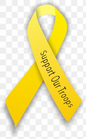 Yellow Ribbon - Yellow Ribbon Support Our Troops Industry Clothing Accessories PNG