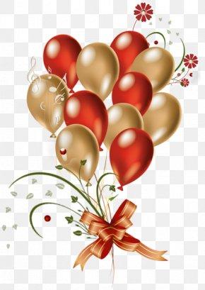Gold Balloon Festival Creative - Balloon Gold Red Clip Art PNG
