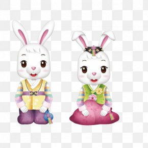 Couple Rabbit - Rabbit Easter Bunny PNG