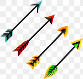 Vector Hand Painted Feather Arrow - Feather Arrow Euclidean Vector Clip Art PNG