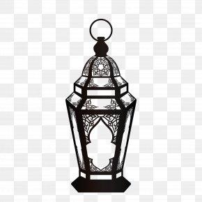 Black Religious Lamp Ornaments - Quran Ramadan Islam Fanous Muslim PNG
