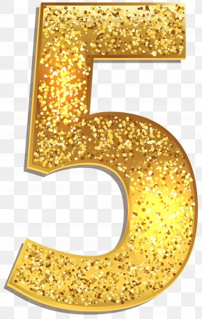 Number Five Gold Shining Clip Art Image - Image File Formats Lossless Compression PNG