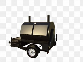 Barbecue - Barbecue-Smoker Rotisserie Smoking Trailer PNG
