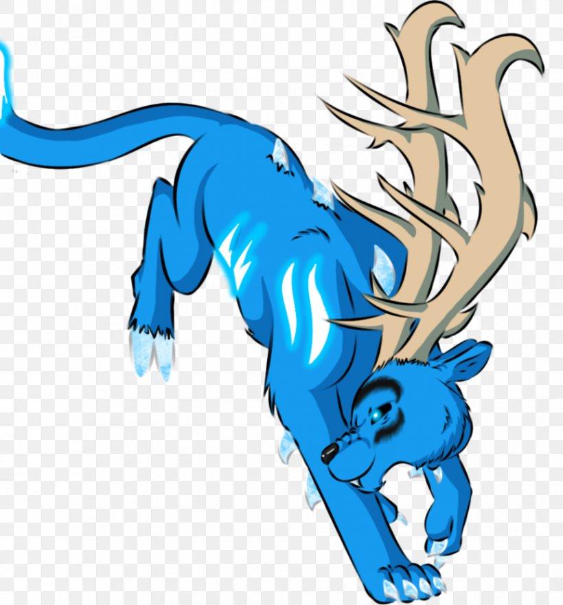 Cartoon Microsoft Azure Legendary Creature Clip Art, PNG, 862x926px, Cartoon, Animal, Animal Figure, Antler, Art Download Free