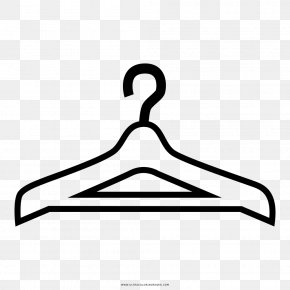 Painting - Clothes Hanger Drawing Coloring Book Black And White Line Art PNG