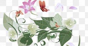Herbaceous Plant Flowering Plant - Flower Plant Leaf Flowering Plant Clip Art PNG