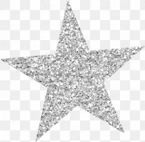 Star Silver Glitter Clip Art PNG