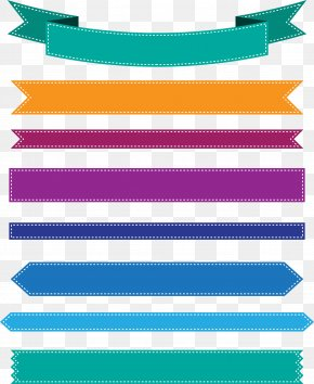 Colorful Ribbon Banner - Web Banner Ribbon Icon PNG