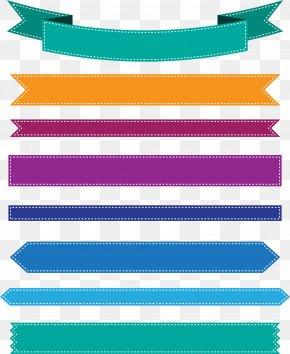 Colorful Ribbon Banner - Web Banner Ribbon Icon PNG