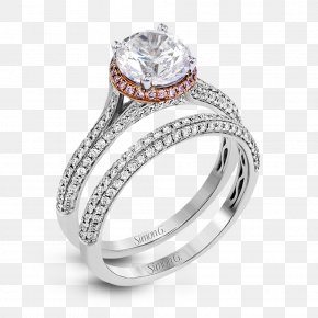 Wedding Set - Engagement Ring Jewellery Gold Diamond PNG