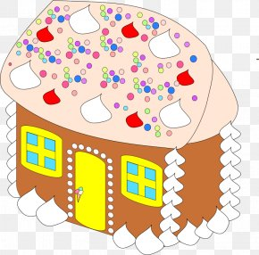 Christmas Cliparts Food - Gingerbread House Hansel And Gretel Clip Art PNG