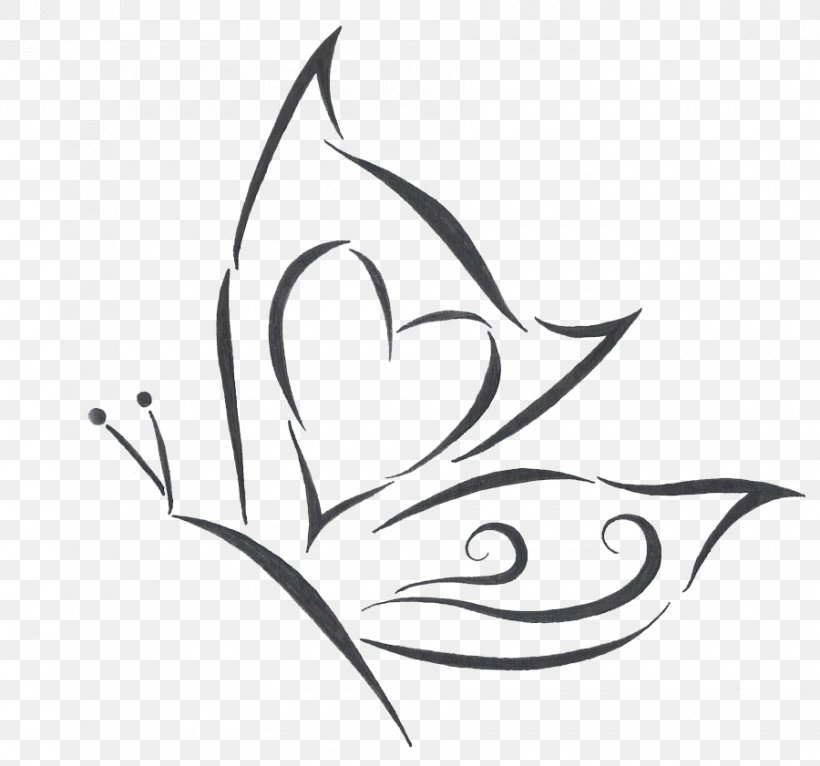 Butterfly Tattoo Drawing Png 900x841px Butterfly Area Art Artwork Black And White Download Free