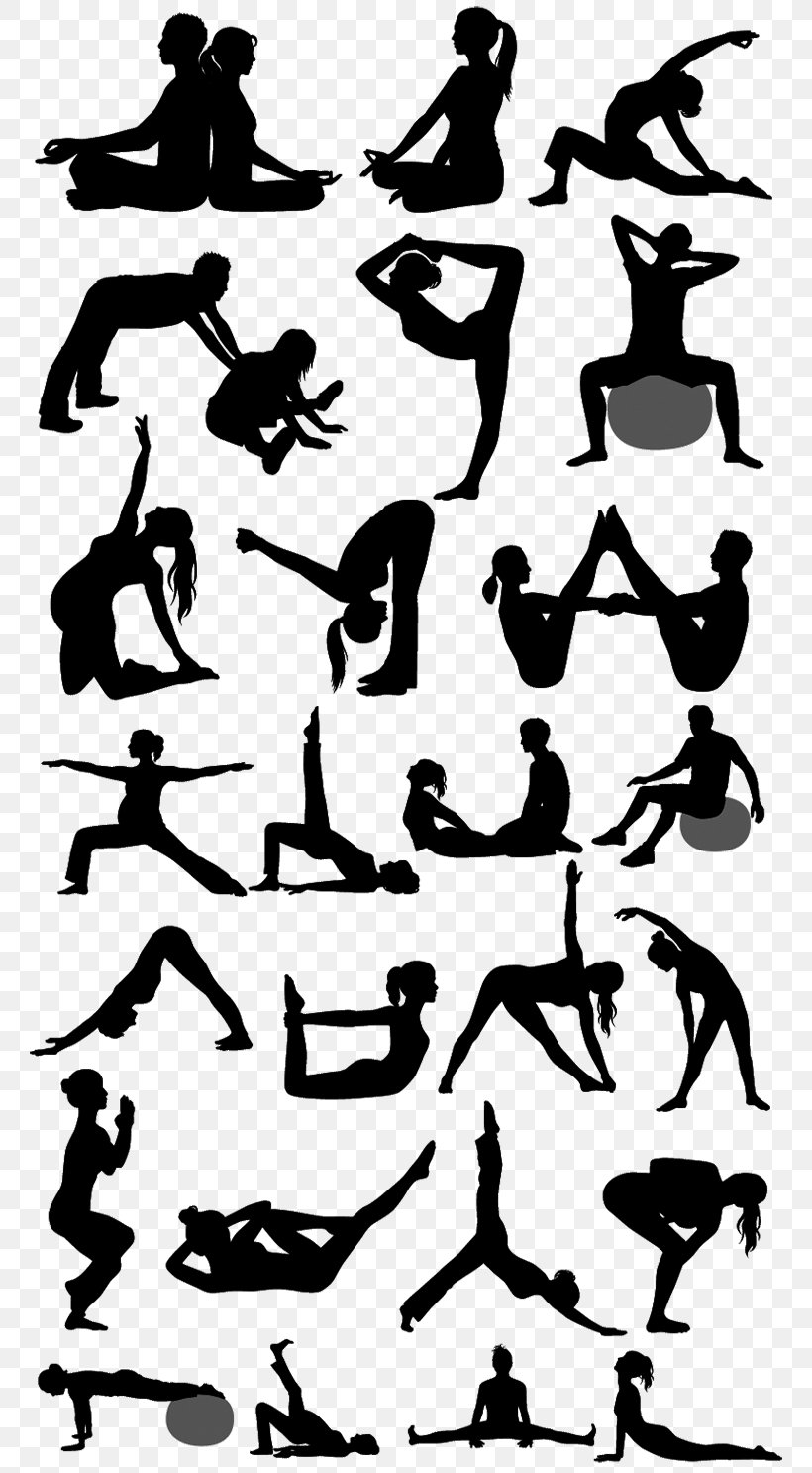 Silhouette Physical Fitness Pilates Yoga Png 770x1486px Silhouette Arm Art Black And White Exercise Download Free