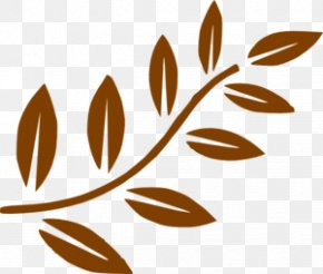 Brown Cliparts - Branch Leaf Tree Clip Art PNG