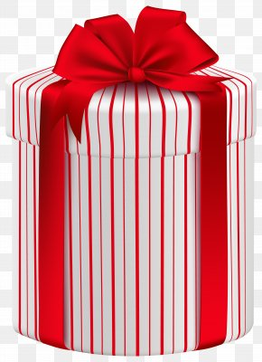 Large Gift Box With Red Bow Clipart Image - Christmas Gift Box Paper Clip Art PNG