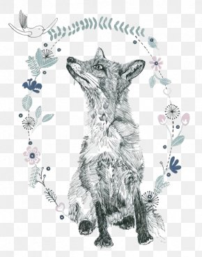 Hand-painted Fox - Drawing Art Watercolor Painting Illustration PNG