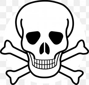 Skulls - Skull And Crossbones Drawing Clip Art PNG