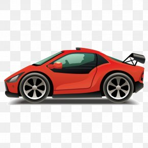 Luxury Sports Car Vector - Sports Car Convertible Cartoon PNG