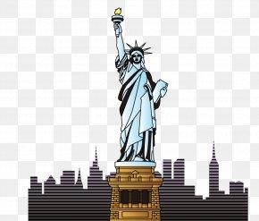 Statue Of Liberty - Statue Of Liberty Landmark Cartoon PNG
