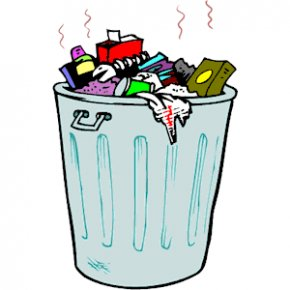 Trash Container Cliparts - Waste Container Plastic Bag Recycling Clip Art PNG
