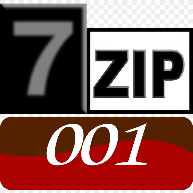 7-Zip Computer Software File Archiver, PNG, 2400x2400px, Zip, Brand, Computer Program, Computer Software, File Archiver Download Free