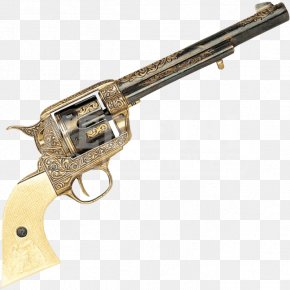 Engraved - Revolver Firearm Gun Weapon Colt Single Action Army PNG
