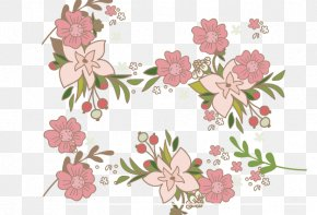 Vector Flowers - Flora Textile Petal Cherry Blossom Pattern PNG