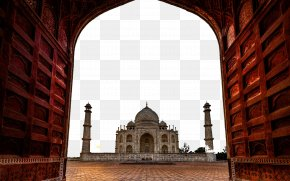 Taj Mahal, India Building Six - Taj Mahal New7Wonders Of The World High-definition Television Display Resolution Wallpaper PNG