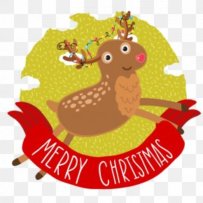 Reindeer Christmas Lights Icon - Rudolph Reindeer Christmas PNG