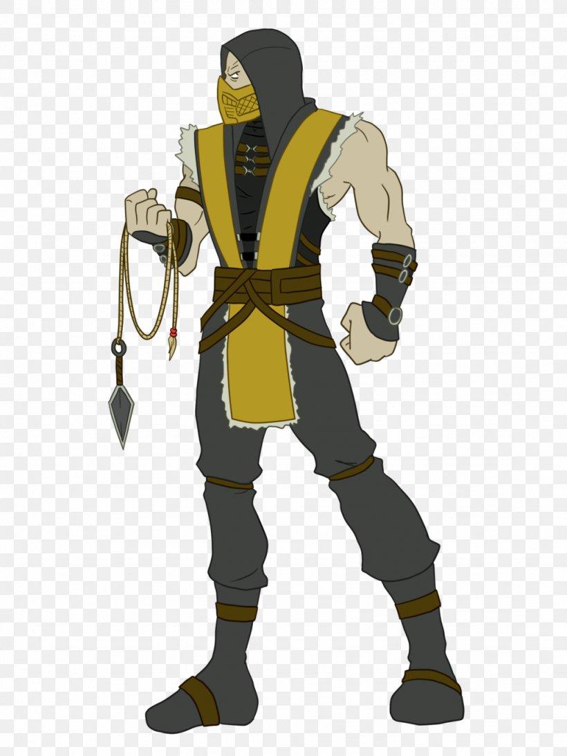 Mortal Kombat X Mortal Kombat 4 Scorpion Drawing, PNG, 1024x1365px, Mortal Kombat, Animation, Cartoon, Climbing Harness, Costume Download Free