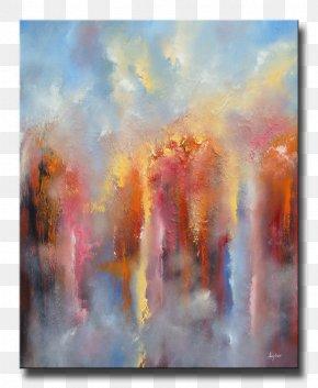 Rain Fall - Watercolor Painting Acrylic Paint Art PNG