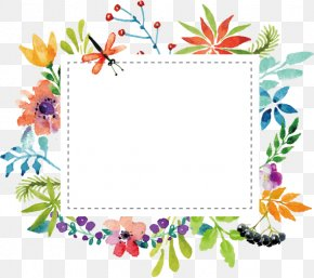Vector Watercolor Floral Greeting Card Display Card - Flower Clip Art PNG