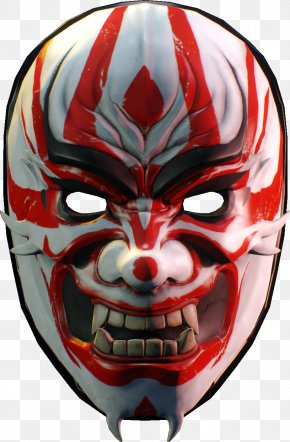 Oni Mask Transparent - Payday 2 Sukiyabashi Jiro Mask Yakuza PlayStation 4 PNG