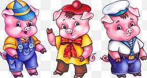 Three Little Pigs - The Three Little Pigs Fairy Tale Goldilocks And The Three Bears Domestic Pig Little Red Riding Hood PNG