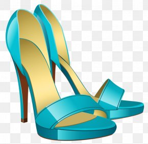 Blue High Heels - Clothing Accessories Female Handbag Illustration PNG