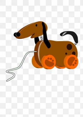 Cartoon Brown Toy Dog - Dog Toy Puppy Clip Art PNG
