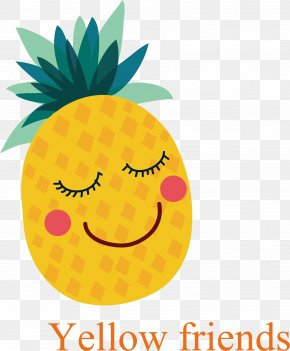 Vector Hand-painted Pineapple - Fruit Adobe Illustrator Icon PNG