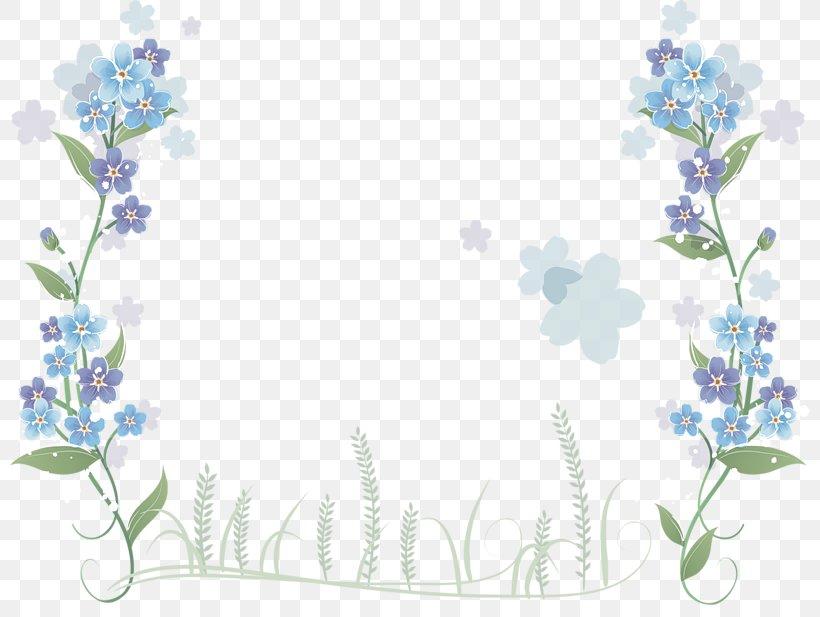 Floral Design Blue Flower Clip Art Borders And Frames, PNG, 800x617px, Floral Design, Blossom, Blue, Blue Flower, Blue Rose Download Free