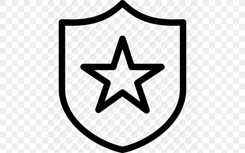 Police Officer Badge Icon, PNG, 512x512px, Police, Area, Badge, Black And White, Brand Download Free