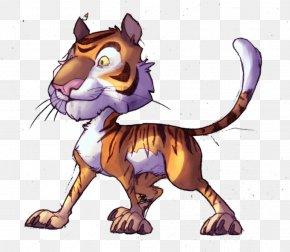 Cartoon Tiger - Tiger Lion Felidae Drawing Cartoon PNG