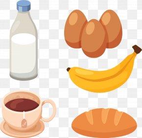 Healthy And Nutritious Breakfast - Milkshake Coffee Breakfast Euclidean Vector PNG