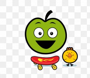 Smiley - Smiley Green Text Messaging Fruit Clip Art PNG