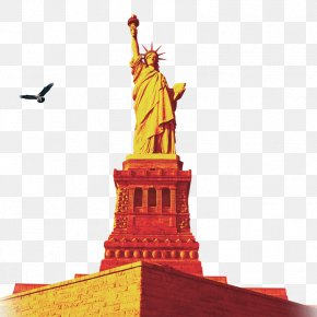 Statue Of Liberty - Statue Of Liberty One World Trade Center Battery Park Ellis Island Statue Of Unity PNG