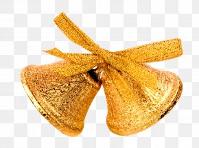 Gold Glitter - Christmas Decoration Jingle Bell Clip Art PNG